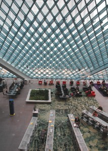 "The ""Living Room"" of the Seattle Central Library."